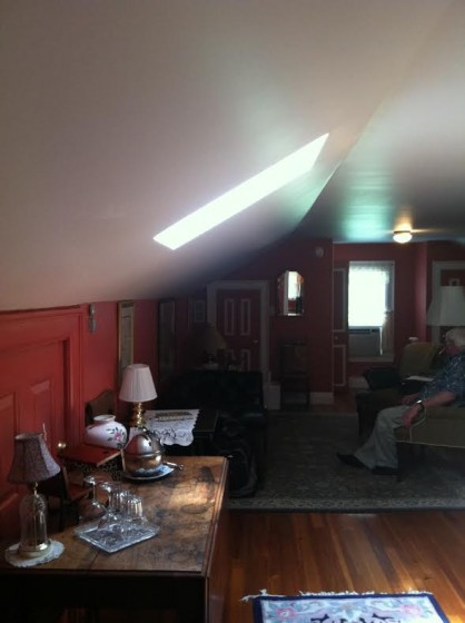 One section of the suite has a cozy sitting room.
