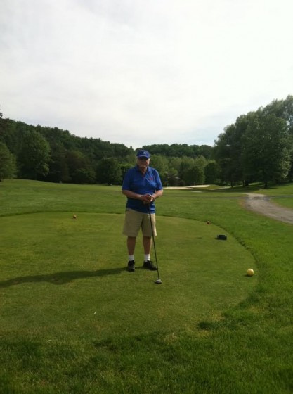 Jerry on the 17th hole at Bryce Golf Course.
