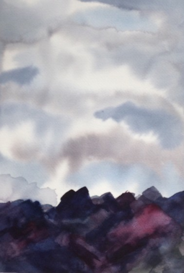Paula lava fields painting