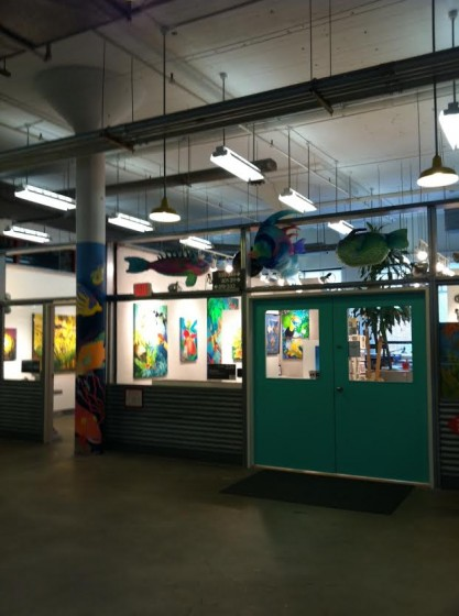 One of many hallways in the Torpedo Factory Art Center.