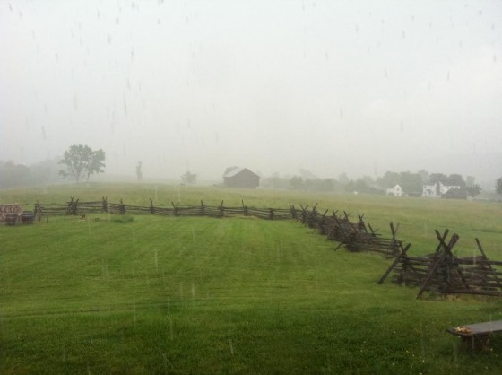 A Civil War Battlefield in the rain. Photo by Jerry Mayfield