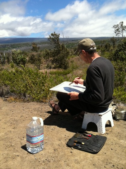 Tom Hoffman focuses his talent on the caldera.