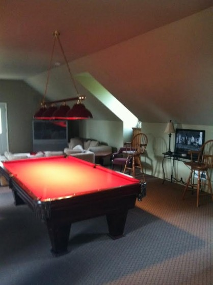 The game room at Young Manor.