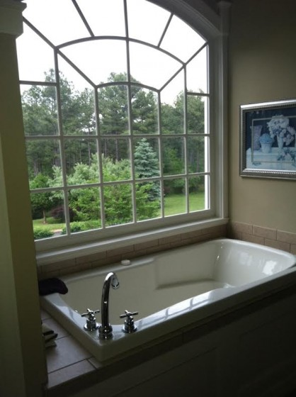 """View from """"my"""" soaking tub at Young Manor."""