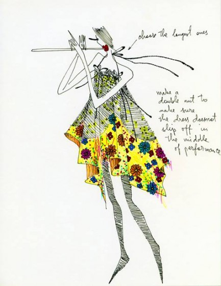 Fashion illustration by Louda Larrain