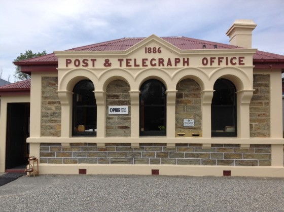 The post office in Clyde, NZ, where each resident still has a puka for their personal mail.