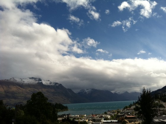 View from our room at Queenstown House