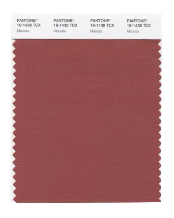 Marsala Swatch Card