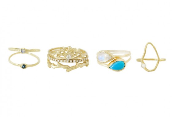 Just four of Misa's new fine jewelry pieces.
