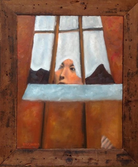 Mysterious woman in window by Jerry Mayfield.