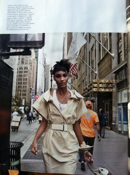 Another page in Elle's editorial featuring Spinelli Kilcollin.