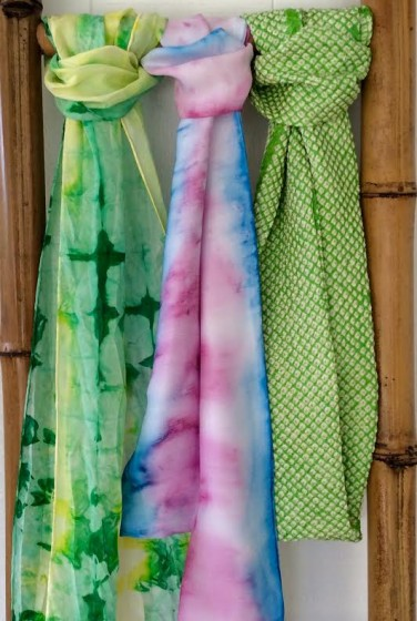 Hand dyed scarves are among Vested Interest's best sellers.
