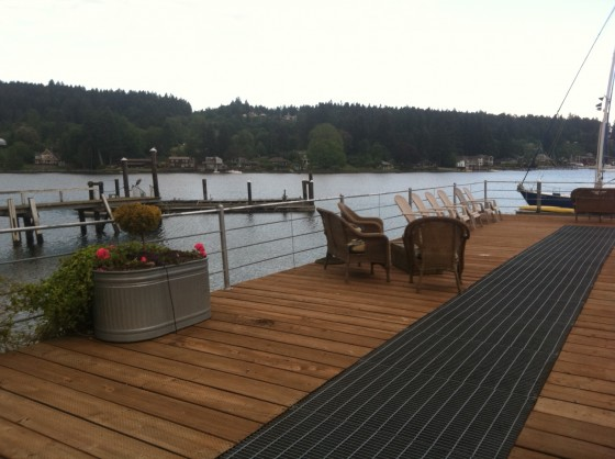 """Our"" deck where we have coffee, wine and even dinner one evening. So relaxing!"