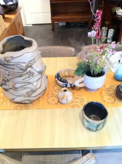 More of the available ikebana vases.