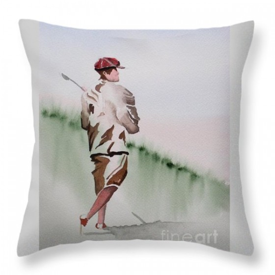 """Golfer""  thorw pillow, $25"