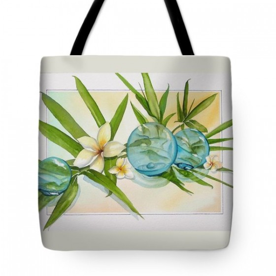"""Floats and Bamboo"" tote bag."