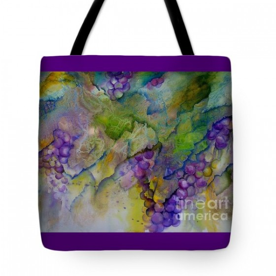 """Grapes"" tote bag, $23"