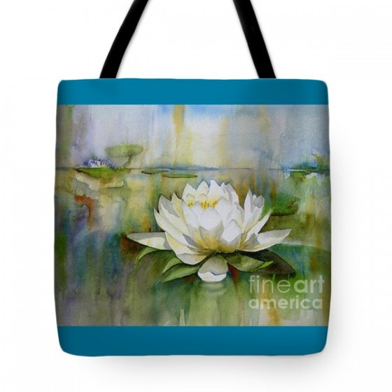 """Water Lily"" tote bag, $20"