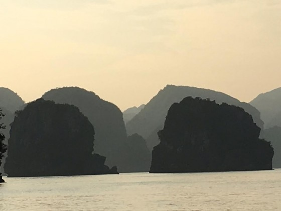 Ha Long Bay is a an artist's study in atmospheric perspective.