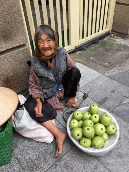 Hanoi Old woman selling fruit