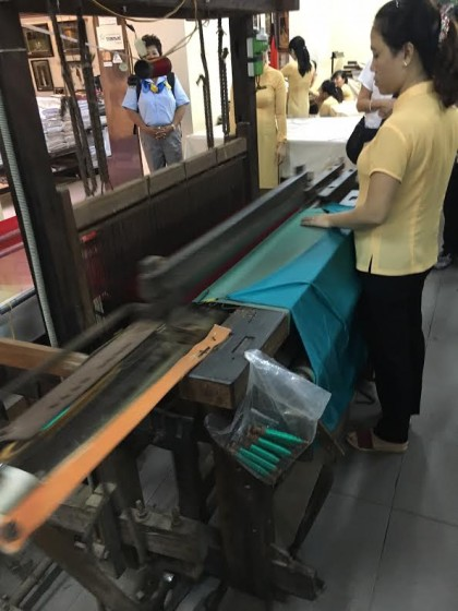 We only saw one loom, so most of the weaving is clearly done elsewhere.