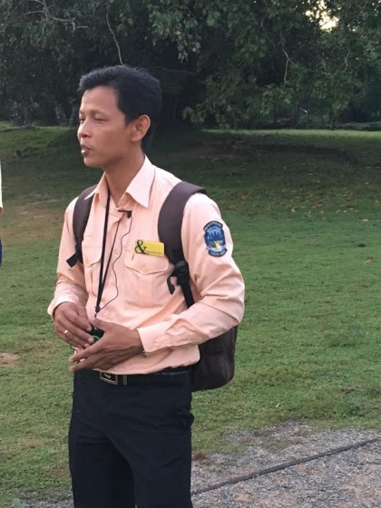 Our guide, Ly Sok Kheang
