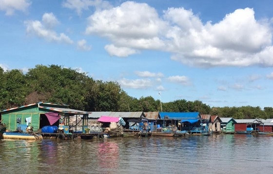A fishing village on Ton Le Sap Lake. Photos by Jerry Mayfiled
