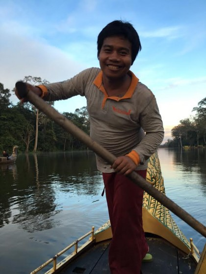 Angkor singing boatman