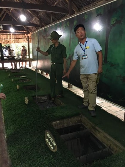 Our guide, Hung, described some of the weaponry used against the American soldiers.