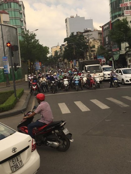 A typical Saigon intersection. Photo by Jerry Mayfield