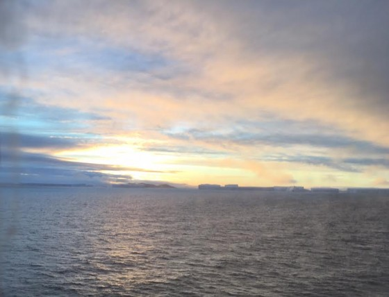 The sunsets in Antarctica were often spectacular.