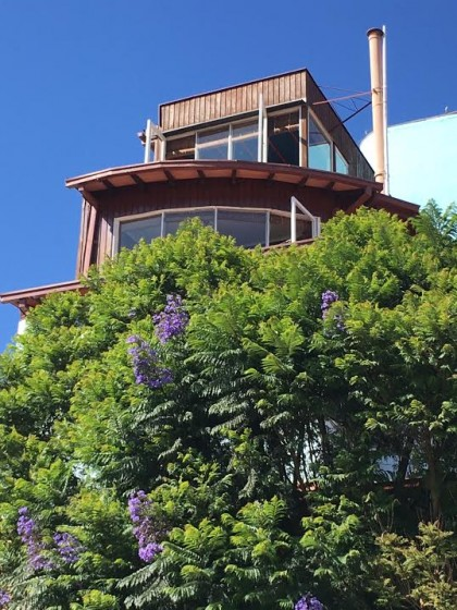 The top two floors of the late poet Pablo Neruda's home.