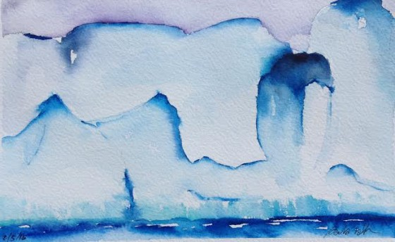 "Watercolor of ""the puka iceberg"" by Paula Rath"