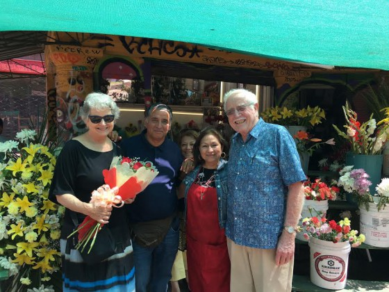 Here we are with the nice Valparaiso couple who sold us my Valentine's Day roses.