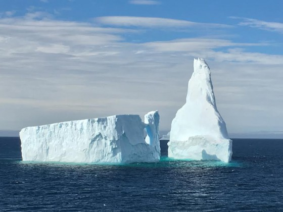 One of the icebergs that inspired a watercolor painting.