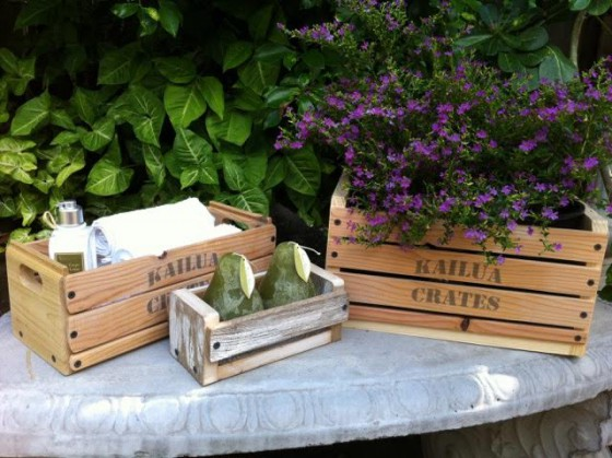 Kailua Crates have versatile uses for the home and outdoors.
