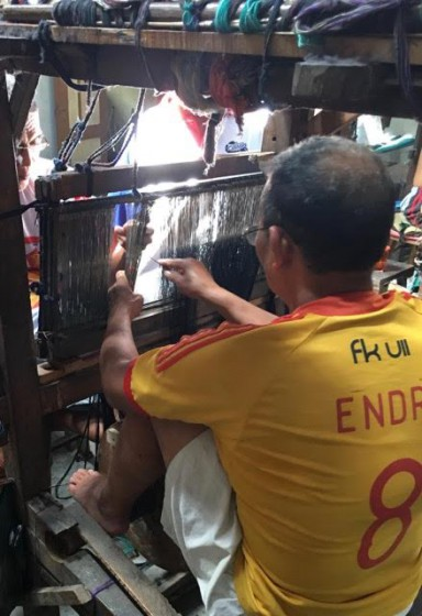 An Indonesian weaver at work. Photos in this story are courtesy of Ron Irwin of Indige.