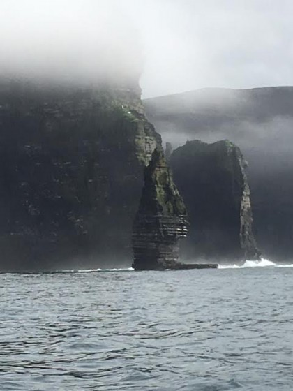 The Cliffs of Moher in the mist. Photo by Jerry Mayfield