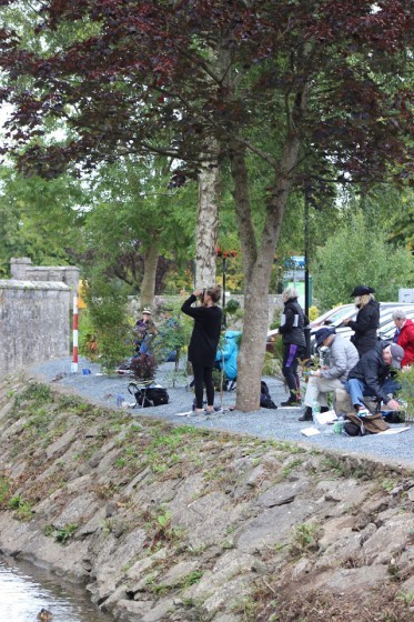 Our group painting the back of Cashel Rock.  Photo by Michael Shepard