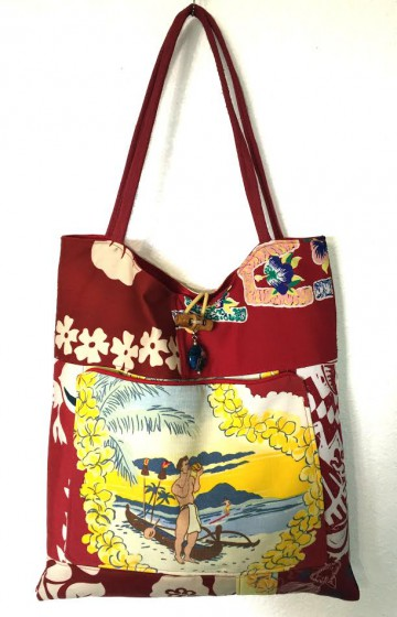 A vintage Hawaiian bag by Lynda Sakraida.  Photo courtesy Hadji Baba Bags