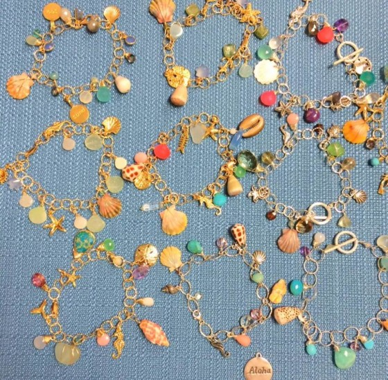Charm bracelets by Beachcomber Design